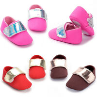Infants Kids Girl Boy Hit Color Soft Crib Sole Shoes Newborn Baby Flats Sneakers