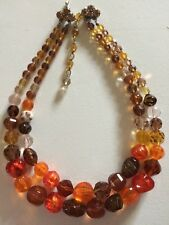 MADE IN AUSTRIA Amazing Vintage Crystal Bead Necklace