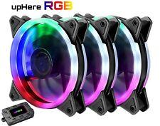 upHere RGB Ventole ultra silenziose per case 120 mm, con LED Rosso, (h8I)