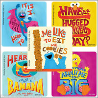 Sesame Street Stickers x 5 - Birthday Party - Elmo, Big Bird, Cookie Monster