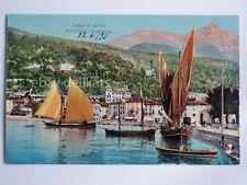 MADERNO Toscolano LAGO di GARDA barca vela panorama Brescia vecchia cartolina