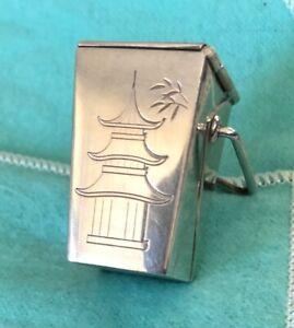 Tiffany & Co. silver Pagoda takeout carton pillbox