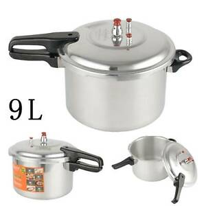 9 LITRE PRESSURE COOKER ALUMINIUM 9L KITCHEN CATERING HOME WITH SPARE GASKET