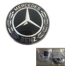 Mercedes-Benz Black Wreath Flat Bonnet Badge Emblem A0008171701 NEW 57mm