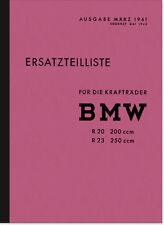 BMW R 20 R 23 Ersatzteilliste Ersatzteilkatalog Teilekatalog R20 R23 Parts List