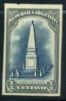 Argentinien 1910 Mi. 137 Postfrisch 100% Farbe Druckprobe 1/2-Pyramide