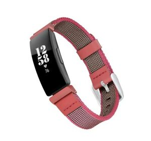 WITHit Woven Nylon Replacement band for Fitbit  Inspire and Inspire 2 Pink New