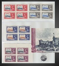 1935 BERMUDA SILVER JUBILEE -BLOCK OF 4 - NEVER HINGED + HINGED ,ERROR -SEE SCAN