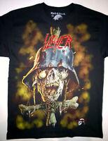 SLAYER T-Shirt RARE Embroidered Logo Exodus Kreator Anthrax Sepultura Testament