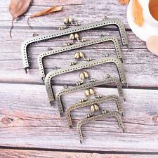Bronze DIY Purse Handbag Handle Coin Bag Metal Kiss Clasp Lock Frame HandleFDBP