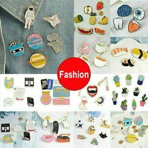 Fashion Cartoon Enamel Lapel Collar Pin Corsage Brooch Women Men Jewelry Gift