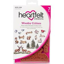 Heartfelt Creations Cling Rubber Stamp Set ~ Woodsy Critters, HCPC3768 ~ NIP