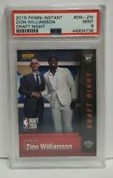 2019 Panini Instant Draft Night Zion Williamson Pelicans RC Rookie PSA 9 MINT