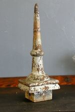 Antique Cast Iron Finial Post Topper Architectural Garden Castle Mansion Chippy