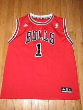 RARE CHICAGO BULLS 1 RED JERSEY ADIDAS DERRICK ROSE NBA BASKETBALL STAR XL GYM