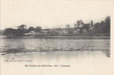 STE EMILIE DE LOTBINIÈRE Quebec Canada 1901-7 Carte Postale J.P. Garneau 167