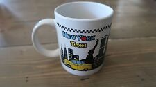 Vintage New York Taxi Mug, Small cut in the top