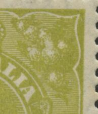 KGV 4d Acsc116(4)i~SG102 GREENISH OLIVE SM13 *WHITE FLAW IN RIGHT WATTLES* MLH.