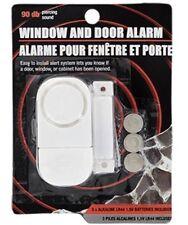 Window and Door Alarm - 90 db Piercing Sound! NIB, Portable, Batteries Included
