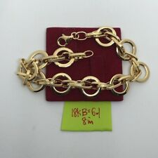 GoldNMore: 18K Gold Bracelet SPOG 8 Inches