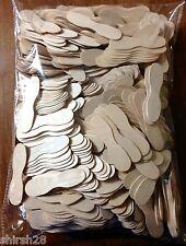 "800 3"" Wooden Craft Popsicle Sticks Ice Cream Spoon Epoxy Paint Mixing Wood Bulk"