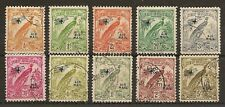 NEW GUINEA 1932-34 AIR (REDRAWN NO DATES) VALS TO 2/- & 5/- (10)