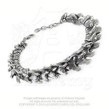 Alchemy - Vertebrae - Pewter Bangle Bracelet