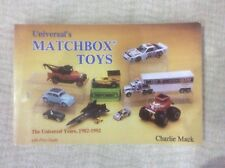 MATCHBOX DIE-CAST MODEL CARS & VEHICLES (1982-92) COLLECTORS GUIDE BOOK
