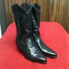 Laredo Black Leather Fringe Western Boots Size 7M Beautiful!
