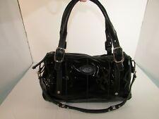 TOD'S Handbag Coated Canvas Black G Line Bag Convertible (Has Replaced Strap)