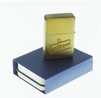 gold sunrise SAN MIGUEL  personalised ENGRAVED METAL lighter birthday XMAS gift