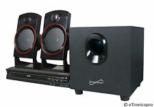 SUPERSONIC SC-35HT 2.1 CHANNEL SURROUND SOUND DVD HOME THEATER SYSTEM w/ REMOTE