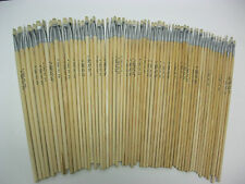 LOT OF 60pcs  ARTIST BRUSHES Acrylic and Oil Brush Sizes #1,2,3,4,6 (12 of each)