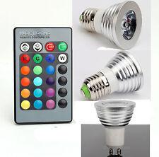 3W E27 RGB LED Bulb Lamp Light Colors Changing+ IR Remote 80LM Energy Saving US