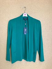 Womens Viyella Petites Merino Wool Medium Green Cardigan BNWT A29