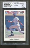 1990 LEAF FRANK THOMAS #300 GEM ELITE 10 PRISTINE RC ROOKIE CHICAGO WHITE SOX