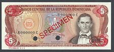 Dominican Republic 5 Pesos 1984 P118cs Specimen TDLR Uncirculated