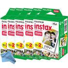 100 Prints Fujifilm instax Mini Film w Cloth f/ 25 50s 7s 8 90 & 300 Mini Camera