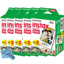 100 Prints Fujifilm instax Mini Film w Cloth, 25 50s 7s 8 9 90 & 300 Mini Camera
