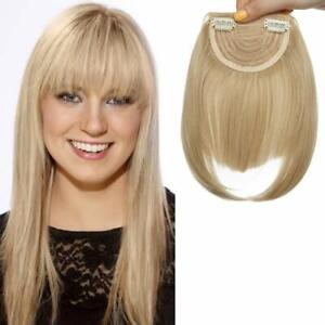 Frangia Clip Finta Capelli Frangetta Frontale Extension Clip in Hair Bang (s9s)