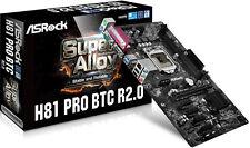 Brand New ASRock H81 PRO BTC R2.0 Motherboard ATX LGA 1150 6 GPU Mining