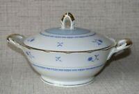 HZ3-1) Porzellan Mitterteich 1931-45 Suppenschüssel Terrine Suppe Ø 23cm H 17cm