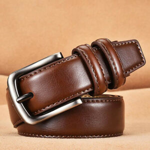 Men's Fashion Genuine Leather Belts for Men Belt Pin Buckle Casual Male Strap