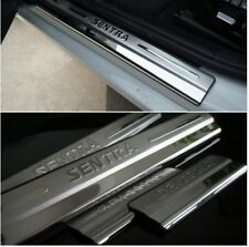 For Nissan Sentra Accessories Door Sill Protector steel Scuff Plate 2012-2019