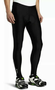 Canari Pro Elite GEL Padded Black Cycling Tights Ankle Zips Reflective Mens XXL