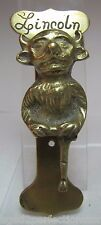 Old Brass Demon Devil Gargoyle Door Knocker small interior door Lincoln Imp