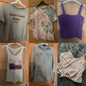 Womens / Teen Big Tops Bundle Size UK 12 New Look, Shein, Primark, Hollister