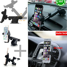 360°Car Holder Windshield Mount Bracket For iPhone Samsung Cell Phone Mobile GPS