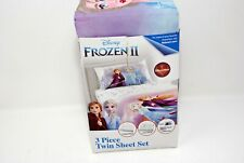 Disney's Frozen Ii Kids 3 pc Bed Sheet Set, Elsa & Anna, Spirit of Nature, Twin