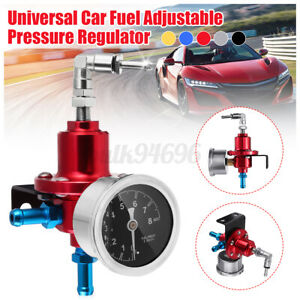 Universal Adjustable Car Fuel Pressure Regulator With KPa Oil Gauge 0-16PSI US